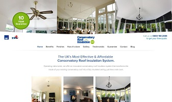 Web development and consultancy for ConservatoryRoofInsulation.com